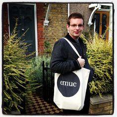 Emilio Sciarrino with an EMUE Books bag  http://emue.fr/shop