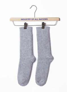 In April Industry of All Nations became a research and development office founded with the commitment to rethink methods of production for consumer goods. Cabin Socks, Ethical Clothing, Taupe, Fiber, Accessories, Heather Grey, Brown, Closet, Ethical Fashion