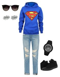 """SuperMom Mode"" by jerrilyn-supermommy-townsend-dixon on Polyvore featuring Frame Denim, Converse, Ray-Ban, Edge Only and adidas"