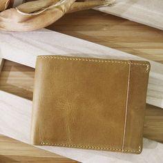 男用-牛皮短夾【CALTAN】皮革壓條裝飾真皮短夾-1930ht