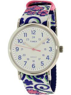 3edb4df49 Weekender, Quartz Watch, Flower Patterns, Fashion Watches, Pink Flowers,  Travel Purse