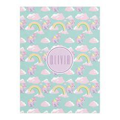 Precious Moments | Unicorn & Rainbow Girl Pattern Fleece Blanket #cute #kids #blankets #kidsrooms