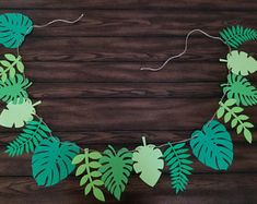 Leaf Banner - Moana Birthday Party - Moana Decorations- Moana Party - Maui - Leaf Party Decor - Moana Birthday Banner