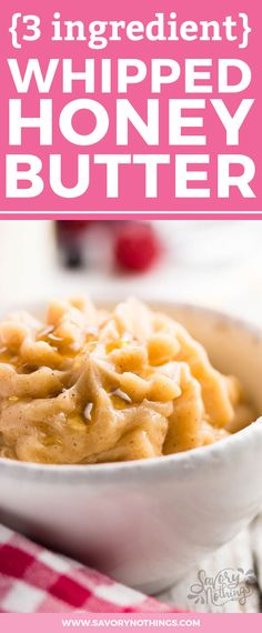Whipped honey butter is AMAZING on all sorts of brunch things! We love it on warm croissants or pancakes. This easy recipe shows you how to make it at home - cinnamon optional :)