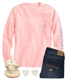 """""""I'm getting impatient"""" by legitmaddywill on Polyvore featuring Vineyard Vines, Abercrombie & Fitch, Jack Rogers, Tiffany & Co., women's clothing, women's fashion, women, female, woman and misses"""