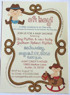 Western baby shower invitation cowboy baby shower western shower cowboy baby shower invitation party by aestheticjourneys on etsy 325 filmwisefo
