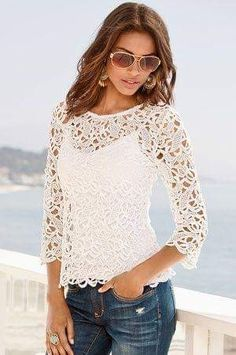 Summer boho outfit style apparel RORESS closet ideas The post White lace top blouse blue jeans. Summer boho outfit 2019 appeared first on Lace Diy. Womens Fashion Casual Summer, Casual Summer Outfits, Boho Outfits, Outfit Summer, Summer Clothes, Dress Summer, Women's Fashion Dresses, Boho Fashion, Fashion Ideas
