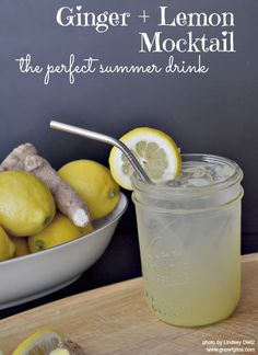 Ginger-Lemon Mocktail |Today I want to share with you the beverage that makes summer bearable for me. It's the drink I whip up in a matter o...