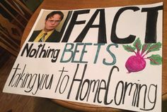 The office homecoming promposal! The office homecoming promposal! The office homecoming promposal! The office homecoming promposal! Cute Homecoming Proposals, Homecoming Posters, Homecoming Signs, Hoco Proposals, Homecoming Dresses, Homecoming Ideas, Homecoming Poster Ideas, Prom Posals, Wedding Proposals