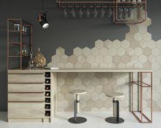 Esagon - heksagonalne płytki łazienkowe - Ceramika Paradyż