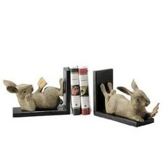 Reading Rabbit Bookends - I want them!