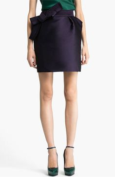 THIS SKIRT IS $2090. WOULD YOU EVEN TRUST IT TO THE DRY CLEANER?  Lanvin Bow Detail Techno Skirt | Nordstrom