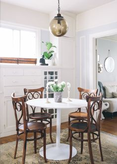 Tips for Decorating a Small Space: http://www.stylemepretty.com/living/2014/03/03/decorating-a-small-space/