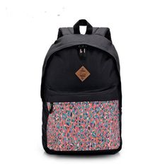 Nice Quality Tribal Print Designer Fashion Large-Capacity Canvas Backpack 3 Colors