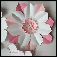 Giant Paper Flowers for Wall Decor or Wedding by FlowerGirlStacy