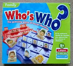 Family Who s Who? The guessing game of secret identities. Children s Board Game