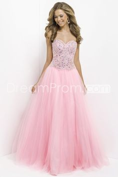 2014 Pretty Floor-length Sweetheart Sleevelesss Tulle Ball Gowns/ Prom Dresses
