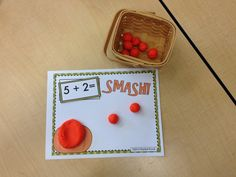 "This FREEBIE is a great way to reinforce the addition strategy of counting on and is also a lot of fun! Your kids will have fun ""smashing the pumpkin"" and then counting on with the other pumpkins. Just cut out the addition cards and work mats, laminate, and make pumpkins with clay or play dough! Create your own addition sentences with the blank cards to challenge your class or provide additional support. A great sensory activity and center too!"
