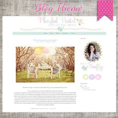 Playful Pastel Blogger Template Theme 12 by saffyloves on Etsy