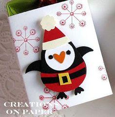 Stampin' Up!  Owl Punch  Kay Sha  Santa Penguin