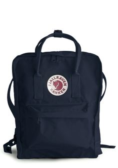 Wherever You Wander Backpack in Navy by Fjällräven - Blue, White, Pockets, Solid, Work