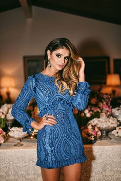 Blue Dress by Skazi ---- Thássia Naves