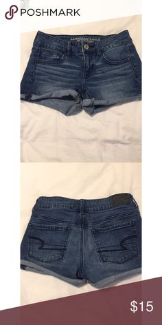 American Eagle shorts shorts from american eagle, stretch, in good condition! Size: 0 ; Feel free to make me other offers! 😊 American Eagle Outfitters Shorts Jean Shorts