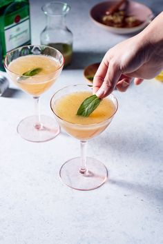 Asian Pear + Sage Gin Collins Cocktail | Hello My Dumpling