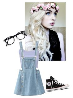 """""""*Reading In library* ~Alisia"""" by kylethevampire ❤ liked on Polyvore featuring Topshop and Converse"""