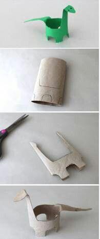 Excelente idea para manualidades de dinosaurios #manualidades #dinosaurio