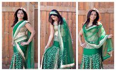 Drape your dupatta - 3 ways! See all 8 styles here, http://runwaysandrattles.com/drape-it-around/