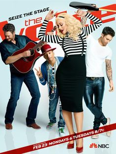 Christina Aguilera Impersonates Pharrell Williams on The Voice and It's Amazing The Voice Season 8 Keyart