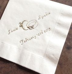 3-ply personalized napkins... #wedding #babyshower #party ect. www.napkinspersonalized.com