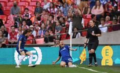 May 6 2018 - Ramona Bachmann scores twice as Chelsea Ladies beat Arsenal Ladies at Wembley to win the Women' s FA Cup