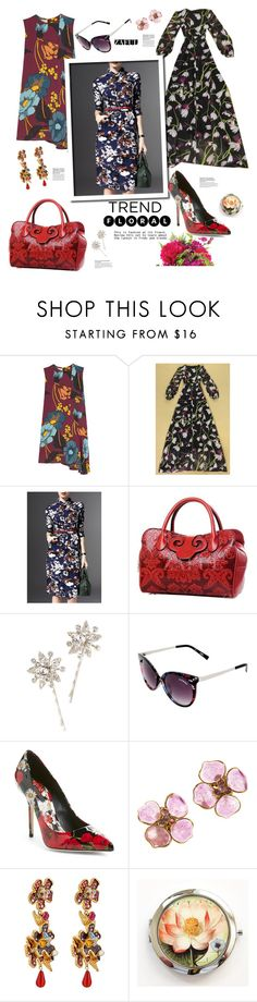"""""""Zaful.com: Trend--> Floral"""" by hamaly ❤ liked on Polyvore featuring Marni, Guide London, Jennifer Behr, Steve Madden, Dolce&Gabbana, Chanel, women's clothing, women, female and woman"""