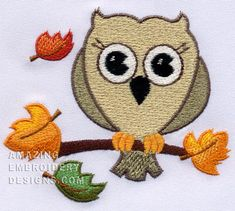Amazing Embroidery Designs  Fall owl