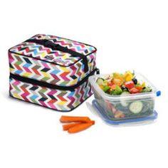 Lunch box isotherme pliable avec gel réfrigérant contenance 1.71L - Couleur:Multicolore Packit