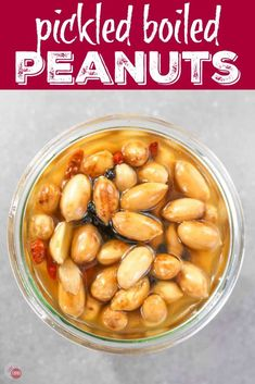 Grab these zesty Pickled Boiled Peanuts for a snack! | Take Two Tapas | #Pickled #BoiledPeanuts #Peanuts #Snacks