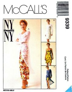 McCall's 9339 Dishy Dress & Sheer Slipdress 1998 Sewing Ideas, Sewing Patterns, Ny Ny, Ny Collection, Sheer Dress, 2000s, Vintage Fashion, Dresses, Sewing