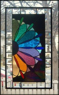 Fanfare of Color Stained Glass Window Panel Signed and Dated | eBay