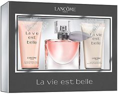 coffret la vie est belle eau de parfum lanc me la vie est belle no l. Black Bedroom Furniture Sets. Home Design Ideas
