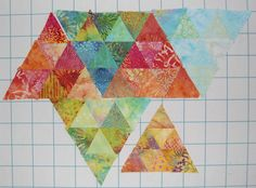 """If I make a quilt using just one shape, it will be called a charm or one block quilt."""