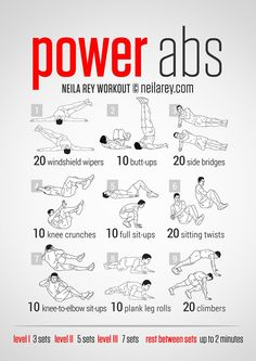 Power Abs Workout ***THANK YOU FOR SHARING***  Follow or Friend me I'm always posting awesome stuff: http://www.facebook.com/tennie.keirn  Join Our Group for great recipes and diy's: www.facebook.com/groups/naturalweightloss1