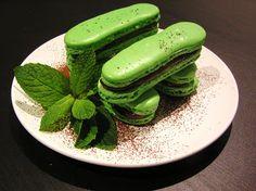 salts & sweets.: chocolate mint macaron fingers.