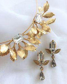Nikki Witt Octavia Headpiece and Juliet Earrings. Bespoke Jewellery, Headpiece, Charmed, Good Things, Link, Bracelets, Earrings, Gold, Accessories