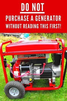 DON'T waste HUNDREDS of dollars on a portable gas generator for emergency power purposes!! There is a MUCH better way that is FAR less expensive, less wasteful, much safer, safer, effective and efficient!! Learn how!! Homestead Survival, Survival Prepping, Survival Skills, Doomsday Prepping, Survival Stuff, Gas Generator, Power Generator, Portable Generator, Emergency Generator