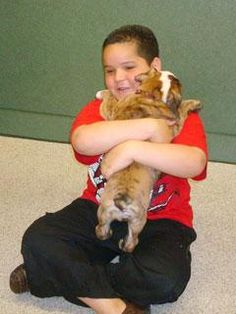 """Nine-year-old Marlon of Miami considered every option when he was deciding on his wish. Meeting a celebrity, going on a trip – nothing could compare to his dream of having a puppy. His heart was set on an English bulldog because """"they are cute and fat and can run real fast."""" The puppy also had to live up to the name """"Diamond.""""So the search was on to find Marlon's dream dog…"""