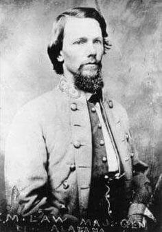 Maj. Gen. Evander M. Law (1836-1920); The Citadel, Class of 1856. He led the 4th Alabama Infantry and received a brigade in early 1862. He commanded the division on several occasions but quarreled about it with the senior though just arriving Micah Jenkins after Hood left. In the end it was given to Maj. Gen. Charles W. Field instead and he transferred to the cavalry corps where he led a brigade and finally a division. His promotion to Maj. Gen. in 1865 was too late to be confirmed by…