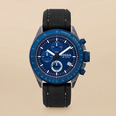 FOSSIL® Watch Collections Decker:Men Decker Silicone and Aluminum Watch - Black CH2784