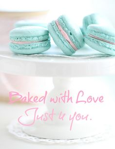 pretty macarons baked with love. @Stephanie McAllister can we make these together? xo